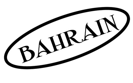 BAHRAIN sticker. Authentic design graphic stamp. Original series Illustration