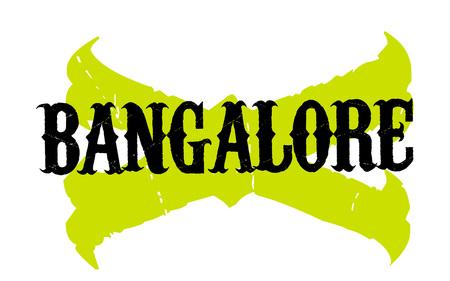 plateau: BANGALORE sticker. Authentic design graphic stamp. Original series