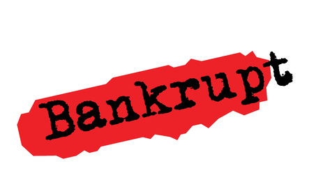 BANKRUPT sticker. Authentic design graphic stamp. Original series Ilustrace