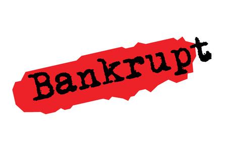 BANKRUPT sticker. Authentic design graphic stamp. Original series Illustration