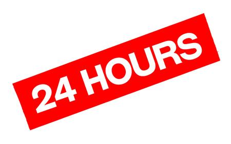 24 uur sticker. Authentieke ontwerp grafische stempel Stock Illustratie