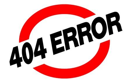 404 error sticker. Authentic design graphic stamp