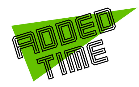 ADDED TIME sticker. Authentic design graphic stamp.