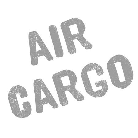 AIR CARGO sticker. Authentic design graphic stamp.