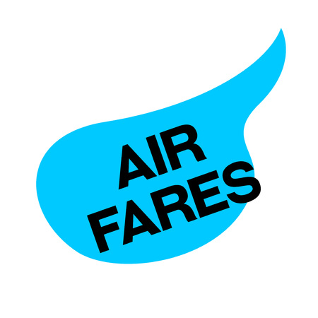 AIR FARES sticker. Authentic design graphic stamp.