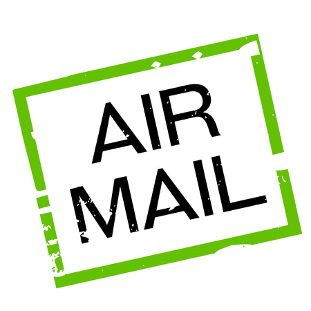 airmail stamp: AIR MAIL sticker. Authentic design graphic stamp.
