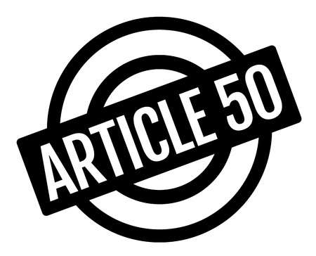 ARTICLE 50 sticker. Authentic design graphic stamp