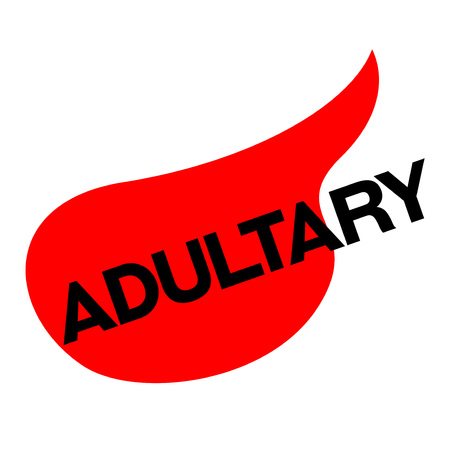 ADULTERY sticker. Authentic design graphic stamp. Original series Illustration