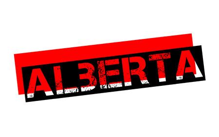 ALBERTA sticker. Authentic design graphic stamp. Original series Illustration