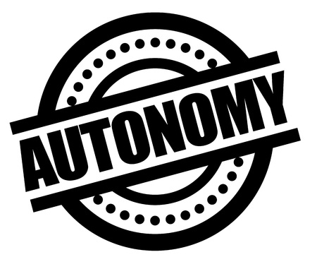 AUTONOMY sticker. Authentic design graphic stamp. Original series