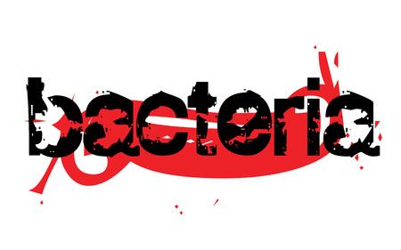 BACTERIA sticker. Authentic design graphic stamp. Original series