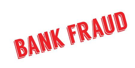 Sello de goma de fraude bancario. Diseño de Grunge con rayas de polvo. Los efectos se pueden eliminar fácilmente para una apariencia limpia y nítida. El color se cambia fácilmente. Foto de archivo - 88097810
