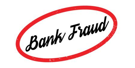 Sello de goma de fraude bancario. Diseño de Grunge con rayas de polvo. Los efectos se pueden eliminar fácilmente para una apariencia limpia y nítida. El color se cambia fácilmente. Foto de archivo - 88097820