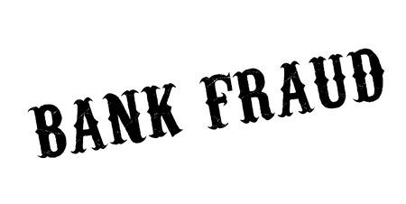 Sello de goma de fraude bancario. Diseño de Grunge con rayas de polvo. Los efectos se pueden eliminar fácilmente para una apariencia limpia y nítida. El color se cambia fácilmente. Foto de archivo - 88098311