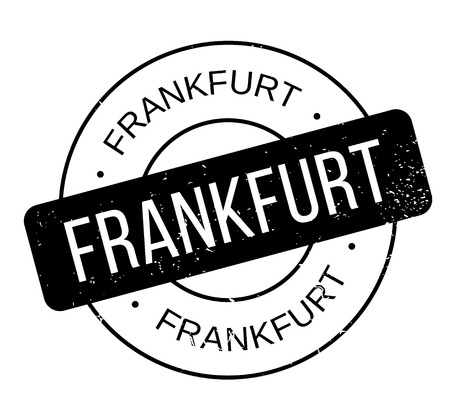 Frankfurt rubber stamp. Grunge design with dust scratches. Effects can be easily removed for a clean, crisp look. Color is easily changed.