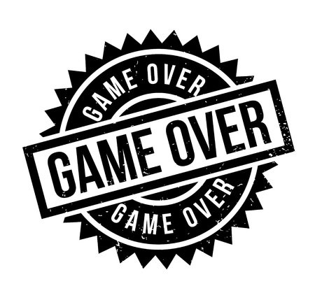 concluded: Game Over rubber stamp. Grunge design with dust scratches. Effects can be easily removed for a clean, crisp look. Color is easily changed.