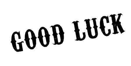 Good Luck rubber stamp. Grunge design with dust scratches. Effects can be easily removed for a clean, crisp look. Color is easily changed.