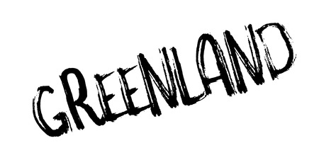 Greenland rubber stamp. Grunge design with dust scratches. Effects can be easily removed for a clean, crisp look. Color is easily changed.