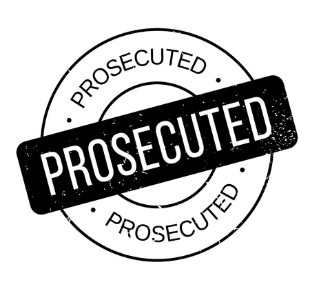 Prosecuted rubber stamp. Grunge design with dust scratches. Effects can be easily removed for a clean, crisp look. Color is easily changed. Stock Vector - 88228489