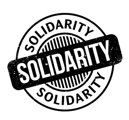 Solidarity rubber stamp. Grunge design with dust scratches. Effects can be easily removed for a clean, crisp look. Color is easily changed. Иллюстрация
