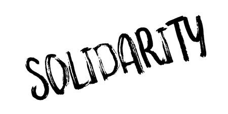 Sello de goma solidaridad. Diseño de Grunge con los rasguños polvo. Los efectos se pueden quitar fácilmente para una apariencia limpia y nítida. El color se cambia fácilmente. Foto de archivo - 88234678