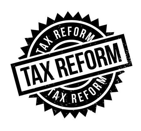 Tax Reform timbro di gomma. disegno del grunge con graffi di polvere. Gli effetti possono essere facilmente rimossi per un look pulito e fresco. Il colore è molto semplice.