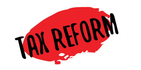 Tax Reform rubber stamp. Grunge design with dust scratches. Effects can be easily removed for a clean, crisp look. Color is easily changed.