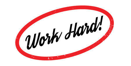 Work Hard rubber stamp. Grunge design with dust scratches. Effects can be easily removed for a clean, crisp look. Color is easily changed.