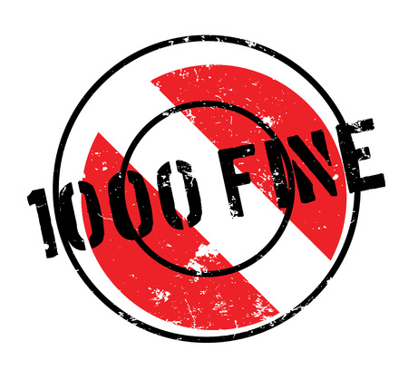 1000 Dollar Fine rubber stamp. Grunge design with dust scratches. Effects can be easily removed for a clean, crisp look. Color is easily changed.