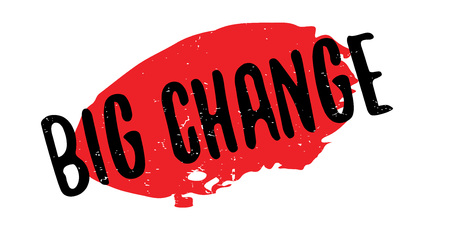 old times: Big Change rubber stamp. Grunge design with dust scratches. Effects can be easily removed for a clean, crisp look. Color is easily changed. Illustration
