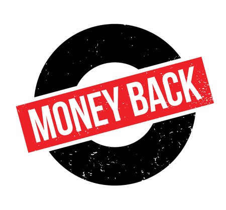 Money Back rubber stamp. Grunge design with dust scratches. Effects can be easily removed for a clean, crisp look. Color is easily changed.