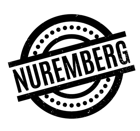 Nuremberg rubber stamp. Grunge design with dust scratches. Effects can be easily removed for a clean, crisp look. Color is easily changed. Illustration