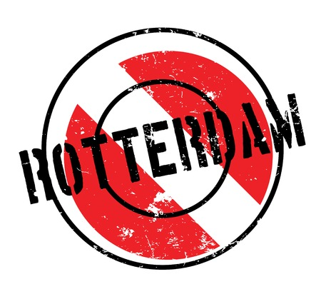 Rotterdam rubber stamp. Grunge design with dust scratches. Effects can be easily removed for a clean, crisp look. Color is easily changed. Illustration