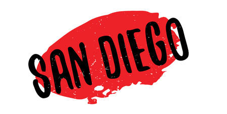 San Diego rubber stamp. Grunge design with dust scratches. Effects can be easily removed for a clean, crisp look. Color is easily changed. Illustration