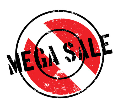 pricing: Mega Sale rubber stamp. Grunge design with dust scratches. Effects can be easily removed for a clean, crisp look. Color is easily changed.