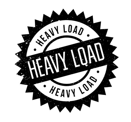 be careful: Heavy Load rubber stamp. Grunge design with dust scratches. Effects can be easily removed for a clean, crisp look. Color is easily changed. Illustration