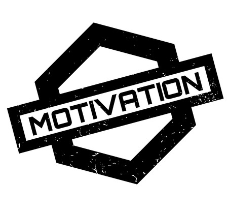 Motivation rubber stamp. Grunge design with dust scratches. Effects can be easily removed for a clean, crisp look. Color is easily changed.