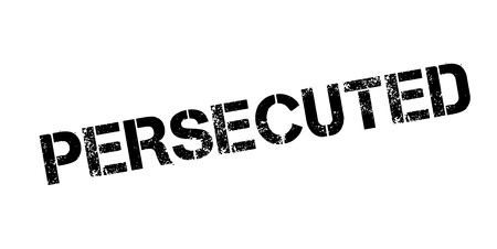 Persecuted rubber stamp. Grunge design with dust scratches. Effects can be easily removed for a clean, crisp look. Color is easily changed. Illusztráció