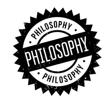 Philosophy rubber stamp. Grunge design with dust scratches. Effects can be easily removed for a clean, crisp look. Color is easily changed. Stock Vector - 88092494
