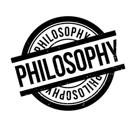 Philosophy rubber stamp. Grunge design with dust scratches. Effects can be easily removed for a clean, crisp look. Color is easily changed. Stock Vector - 88092495