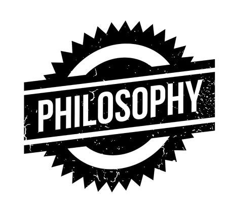 Philosophy rubber stamp. Grunge design with dust scratches. Effects can be easily removed for a clean, crisp look. Color is easily changed. Stock Vector - 88092500