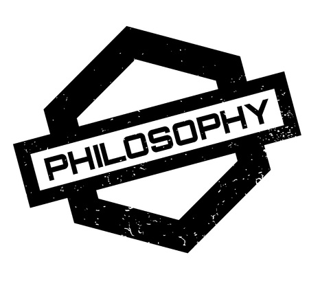 Philosophy rubber stamp. Grunge design with dust scratches. Effects can be easily removed for a clean, crisp look. Color is easily changed. Stock Vector - 88092503