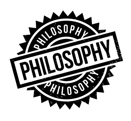 Philosophy rubber stamp. Grunge design with dust scratches. Effects can be easily removed for a clean, crisp look. Color is easily changed.