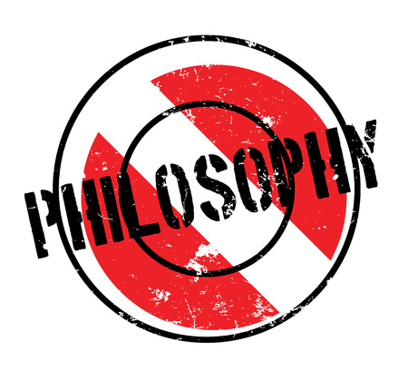 Philosophy rubber stamp. Grunge design with dust scratches. Effects can be easily removed for a clean, crisp look. Color is easily changed. Stock Vector - 88092507