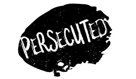 Persecuted rubber stamp. Grunge design with dust scratches. Effects can be easily removed for a clean, crisp look. Color is easily changed. Illustration