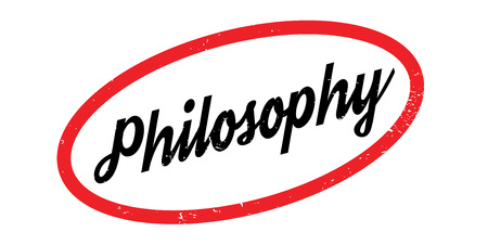 theoretical: Philosophy rubber stamp. Grunge design with dust scratches. Effects can be easily removed for a clean, crisp look. Color is easily changed.