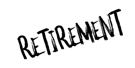 Retirement rubber stamp. Grunge design with dust scratches. Effects can be easily removed for a clean, crisp look. Color is easily changed.