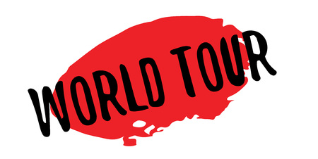 World Tour rubber stamp. Grunge design with dust scratches. Effects can be easily removed for a clean, crisp look. Color is easily changed. Illustration