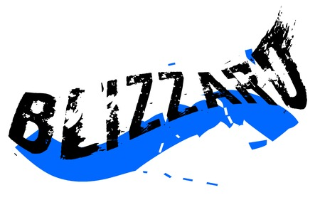 Blizzard-sticker. Authentieke ontwerp grafische stempel. Originele serie Vector Illustratie