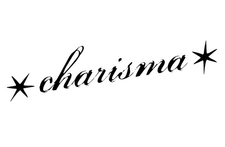 Charisma sticker. Authentic design graphic stamp. Original series Illustration